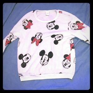 Mini and Mickey mouse PJ shirt